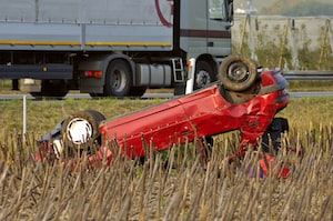 Red Truck Accident